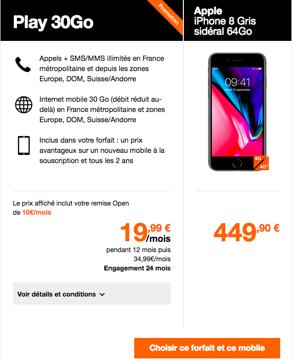 iphone 8 les bons plans de sfr bouygues t l com et orange. Black Bedroom Furniture Sets. Home Design Ideas