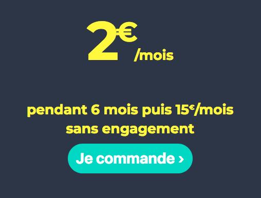 Le forfait Cdiscount Mobile à 2€.