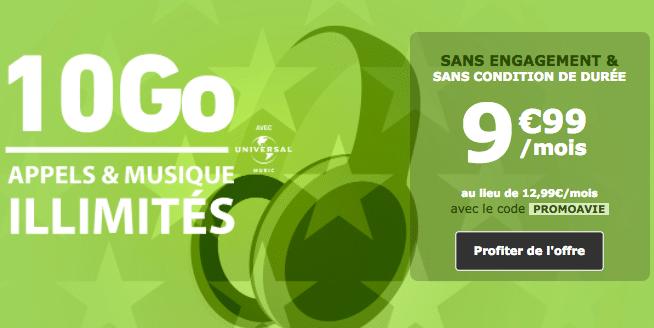 Le forfait La Poste Mobile 10 Go est en promotion encore quelques jours.