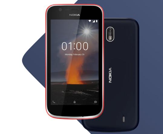Le Nokia 1, classe budget de la gamme de Nokia.