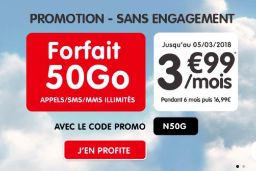 Les forfaits Woot 50 Go de NRJ Mobile sont en promotion.