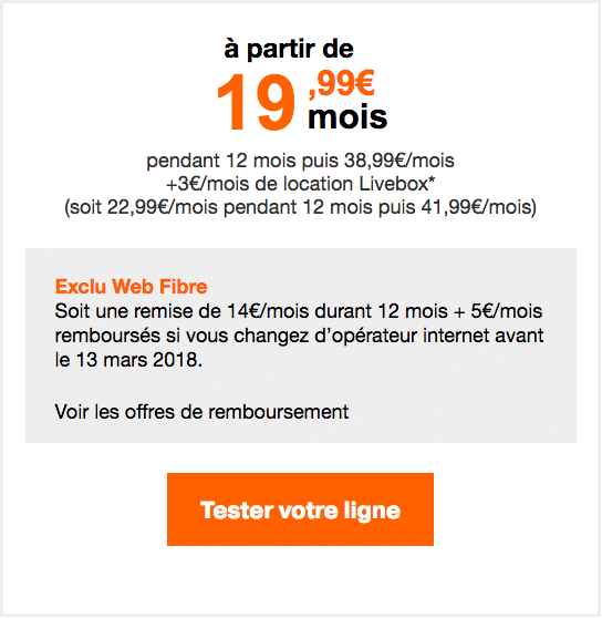 La box internet Zen Fibre Orange.
