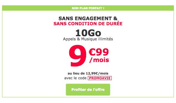 Le forfait mobile 10 Go de La Poste Mobile est en promotion pour quelques jours supplémentaires.