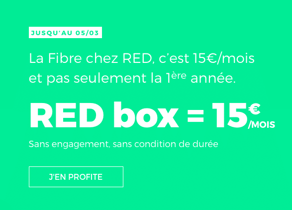 La RED Box de RED by SFR est en promotion.
