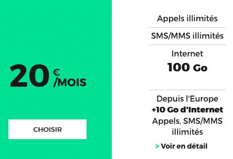 Le forfait 100 Go de RED by SFR, une réussite.