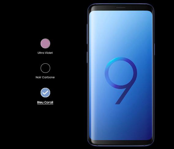 Quels coloris pour les Samsung Galaxy S9 et S9+ ?