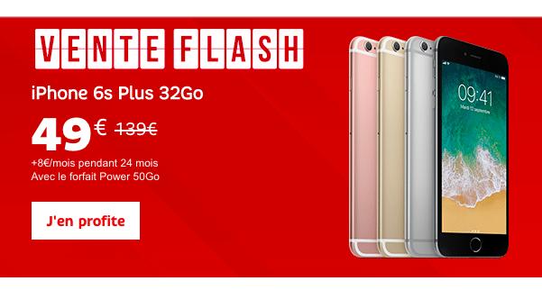 Un iPhone 6S Plus à petit prix chez SFR grâce à la vente flash.