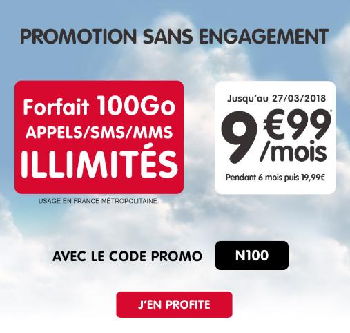 Le forfait illimité de NRJ Mobile pour 9,99€/mois.