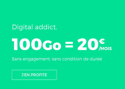 RED by SFR met en vente un forfait mobile à 100 Go.