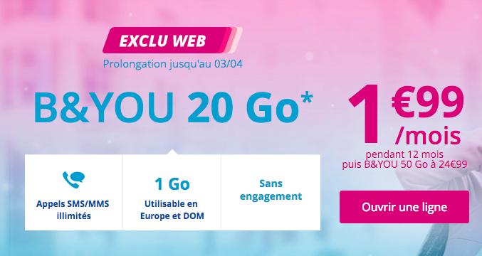 Bouygues Télécom et sa promotion sur le forfait B&YOU.