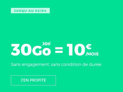 RED by SFR met en vente un forfait mobile à 10€ par mois.