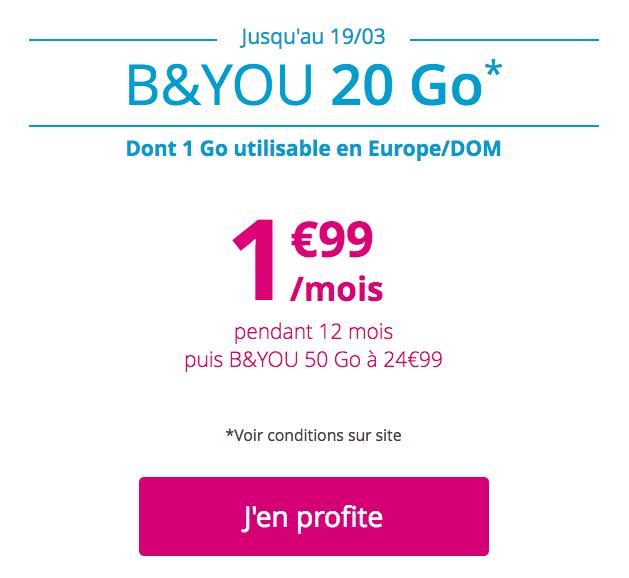 Le forfait B&YOU à 1,99€.