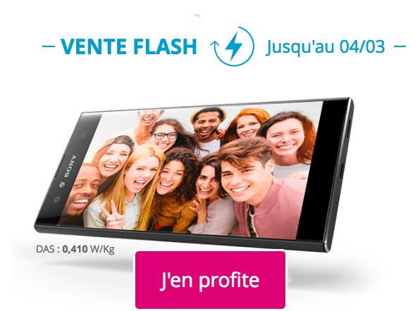 vente flash sur le sony xperia xa2 ultra 1 avec bouygues t l com. Black Bedroom Furniture Sets. Home Design Ideas