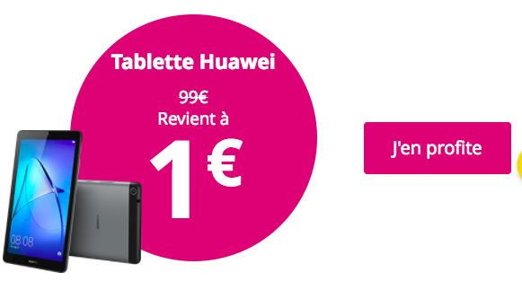 La promotion de Bouygues Télécom sur les mobiles et la tablette Huawei.