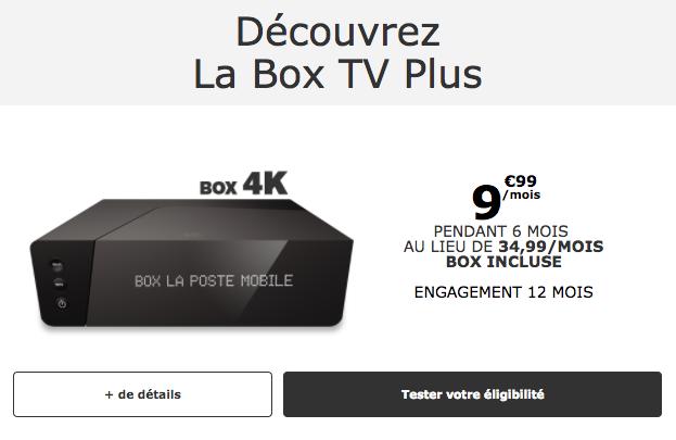 Box tv Plus La Poste Mobile.
