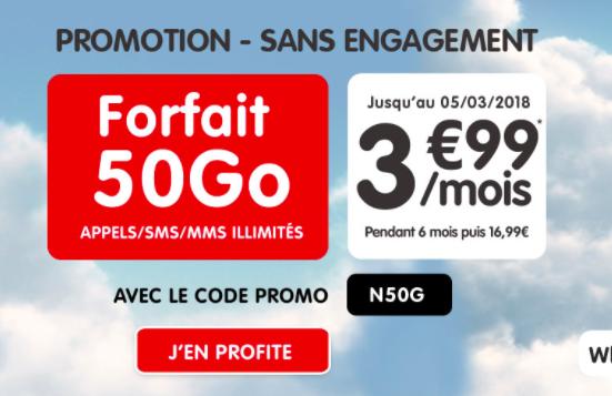 Le forfait 50 Go NRJ Mobile.