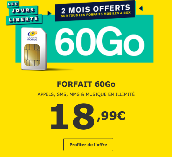 La Poste Mobile 60 Go