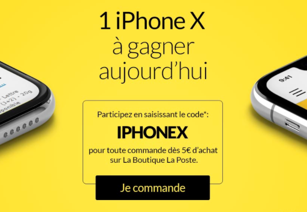 La Poste concours iPhone X