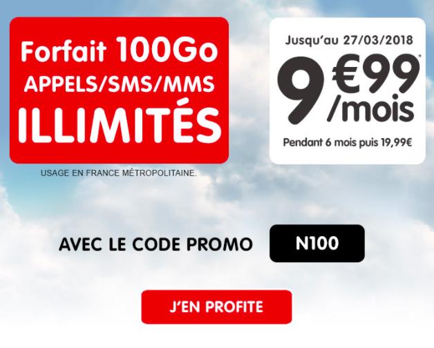 Souscrire à l'offre 100 Go de NRJ Mobile.