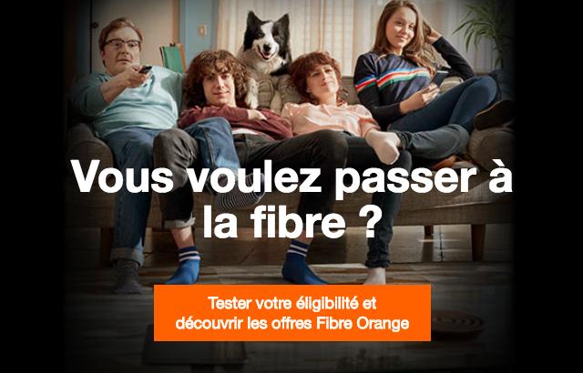 La fibre optique avec Orange.