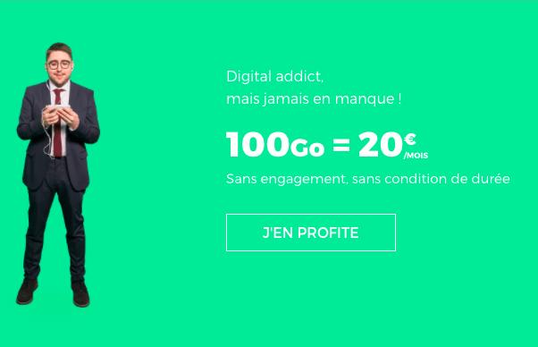 Choisir l'abonnement 100 Go de RED by SFR.