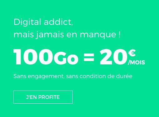 Le forfait 100 Go de RED by SFR.