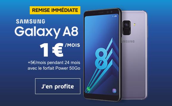 Le Samsung Galaxy A8 affiché à 1€ avec SFR et l offre Power 50 Go 441072da2d55