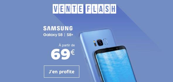 Vente flash de SFR sur le Samsung Galaxy S8.