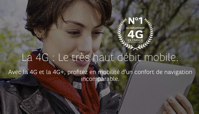 SFR Numéro 1 sur le déploiement de la 4G.