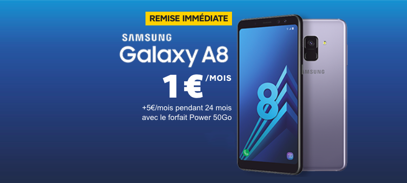 le samsung galaxy a8 affich 1 avec sfr et l 39 offre power 50 go. Black Bedroom Furniture Sets. Home Design Ideas
