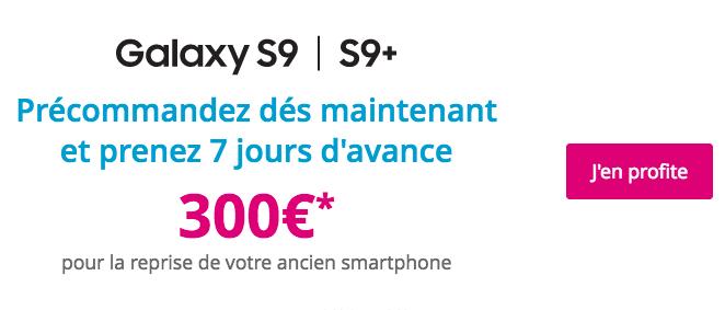 300€ remboursés sur les Samsung Galaxy S9 et S9+.