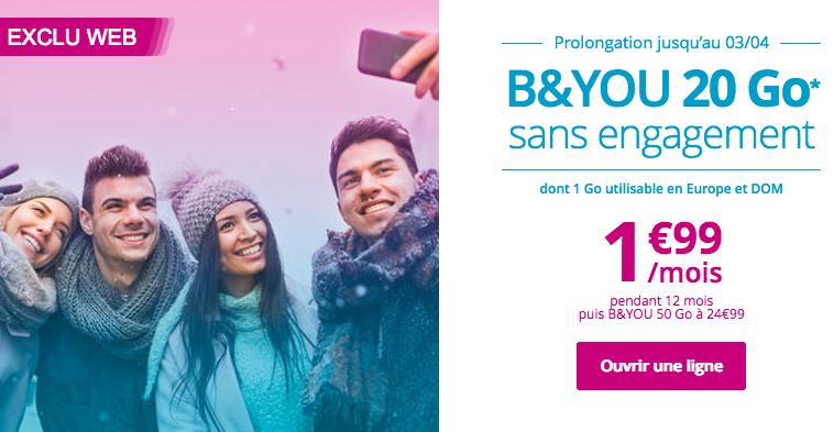 Bouygues Télécom, à travers sa filiale B&YOU, regorge de promotions sur ses forfaits.
