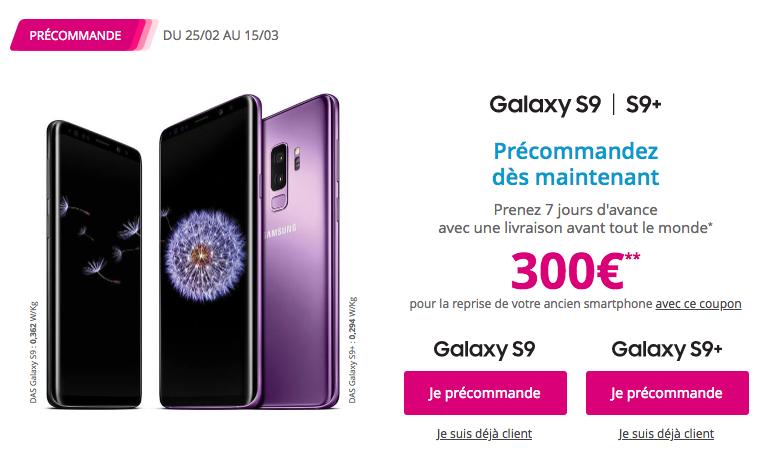 Le Samsung Galaxy S9 est disponible chez Bouygues Telecom avec plusieurs forfaits.