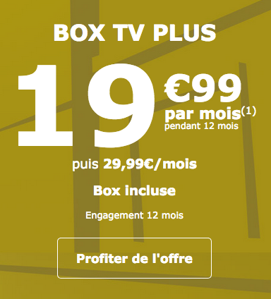 Promotion sur la box internet de La Poste Mobile.