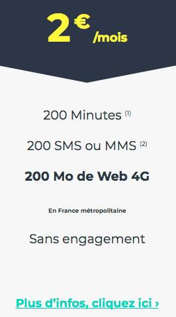 Le forfait mobile sans engagement de Cdiscount Mobile.