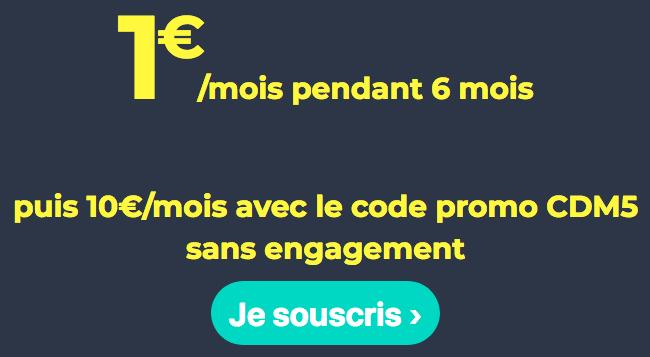L'un des forfaits sans engagement de Cdiscount Mobile est en promotion.