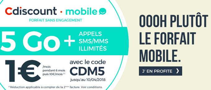 Cdiscount Mobile propose une offre qui se distingue parmi les autres forfaits.