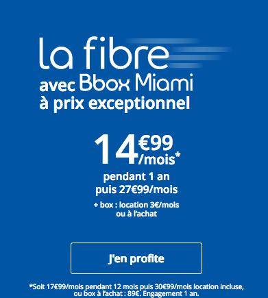 La Bbox Miami de Bouygues télécom est également en promo.