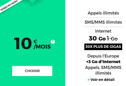 Une promotion sur le forfait RED by SFR.