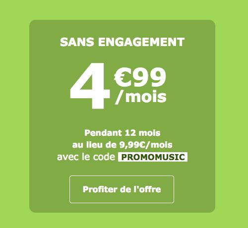 Le forfait 5G et 2 heures de La Poste Mobile.