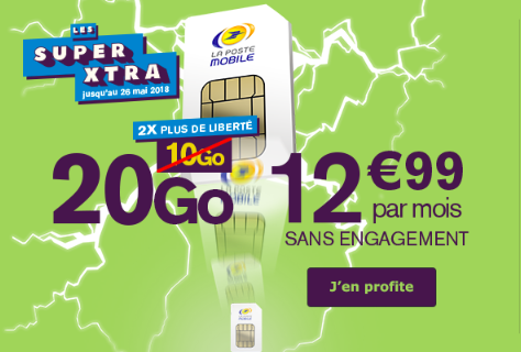 Les forfaits La Poste Mobile en promotion.