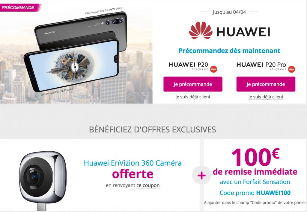 Huawei P20 Bouygues Télécom