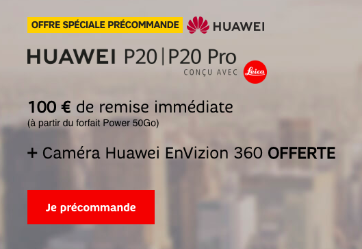 Bons plans SFR sur le Huawei P20 Pro