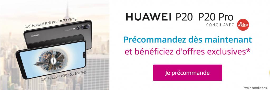 Huawei P20 et P20 Pro chez Bouygues Télécom