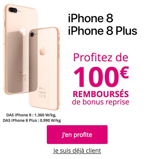 Bonus de reprise de Bouygues Télécom sur l'iPhone 8.
