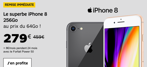 L'iPhone 8 en promotion avec SFR.