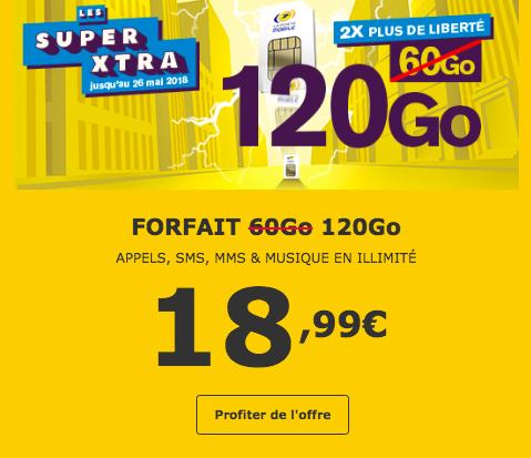 120 Go pour 18,99€ par mois parmi les forfaits La Poste Mobile