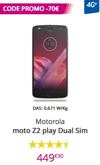 Le smartphone moto Z2 dual SIM chez Bouygues Télécom.