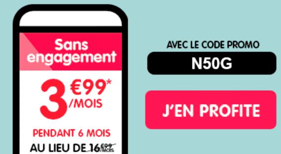 Le code N50G donne accès à l'un des meilleurs forfaits de NRJ Mobile.