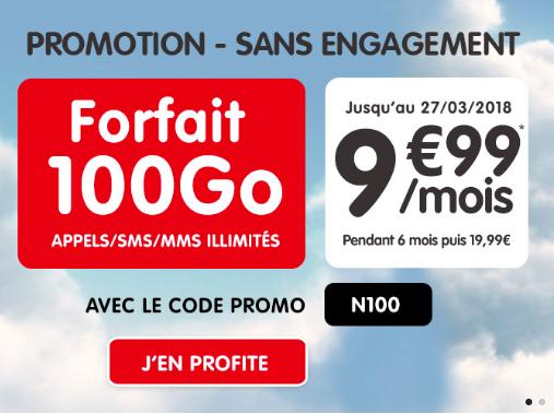 NRJ Mobile propose le forfait 100 Go
